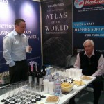 Andy Wilson (Victoria Litho) with Sandy Hill (IMIA) getting ready for the IMIA reception at Frankfurt Book Fair