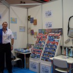 Peter Davis at IMIA co-operative stand at Japan Book Fair